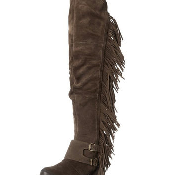 Naughty Monkey Frilly Fanta Boots Taupe