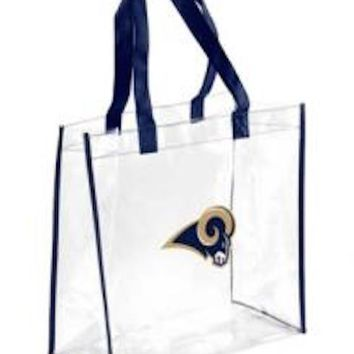 Los Angeles Rams Clear Reusable Plastic Tote Bag NFL 2017 Stadium Approved