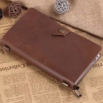 Hand Crafted RefillableLeather Notebook -Journal Sketchbook - Leather Traveler's Notebook - Leathe Dairy - Standard Size