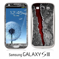 Samsung Galaxy S III Red Crack skin FREE SHIPPING