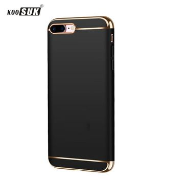for iphone 8 case original KOOSUK for iphone 8 plus case cover back protection 3 in 1 capas luxury for iphone8 hard cases