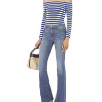 Le High Flare Blue Jeans