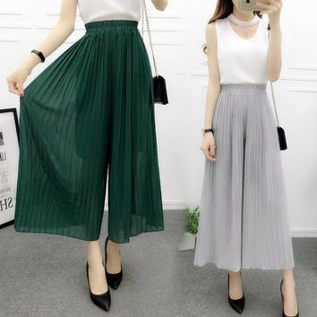 Womens Casual Chiffon Loose Pants