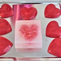 LoveStruck Scented Heart-in-a-Box Aloe & Vitamin E Glycerin Soap Bar - $5.50 - Handmade Bath And Body, Crafts and Unique Gifts by CapriAries Soap Works
