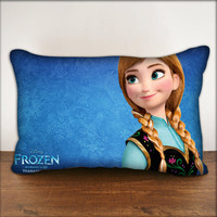 "Disney Princess Anna Frozen - Pillow Cover in Size 18""x18"" and 30""x20"""