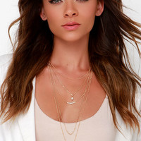 Once More Gold Layered Necklace
