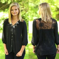 Graceful in Lace Top
