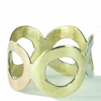 Hammered mixed Metal Circle Band Ring for male and by ExCognito
