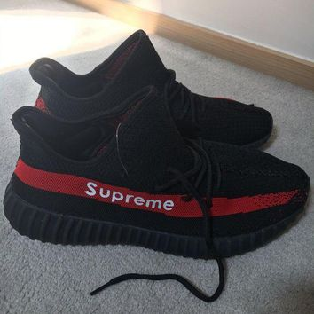 PEAP Yeezy Boost 350 v2 x Supreme Women Men Casual Running Sport Shoes Sneakers Shoes