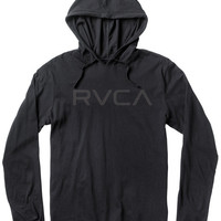 Big RVCA Long Sleeve Hooded T-Shirt | RVCA