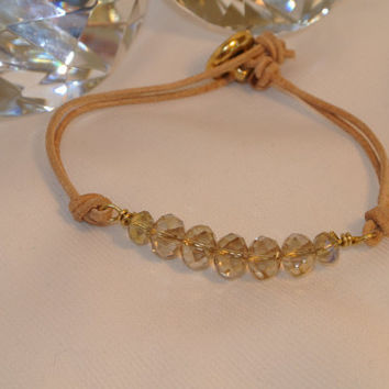Sparkling Greek Wrap  Greek leather and swarovski by GGSparkle