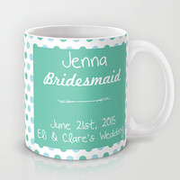 Bridesmaid Mug Set Bride Mug Set Bridal Brides maid Gifts Set of 5 Personalized Custom Wedding Coffee Mugs