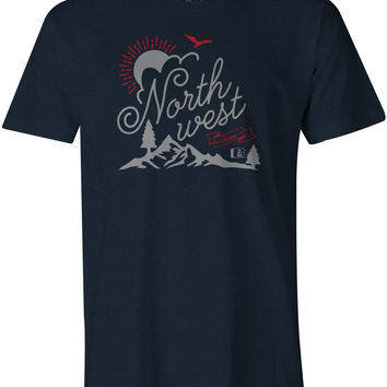 Sunburst T-Shirt Midnight Navy Heather