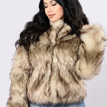 Fernanda Fur Coat - Brown