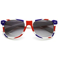 Retro Horned Rim British United Kingdom Britain Sunglasses 9460
