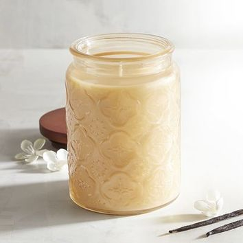 Vanilla Creme Filled Trellis Jar Candle