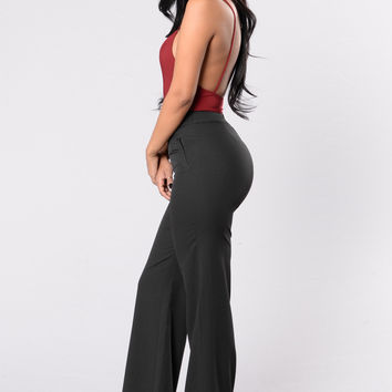 Straight To Business Pants - Black