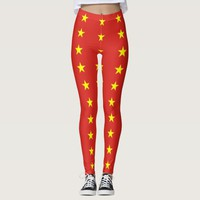 Leggings with flag of Vietnam