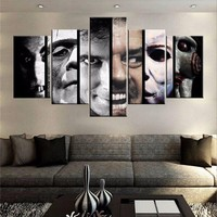 Faces of Horror Halloween Canvas