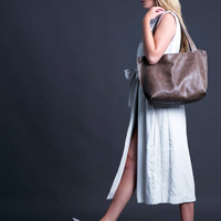 Woman Leather Bag - Shoulder Bag - Leather Tote - Large Leather Bag - Elegant look - Office Bag - SHIRI Bag / Tiger Leather