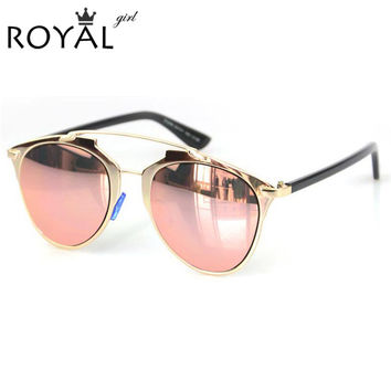 Reese Reflective Mirror Cat Eye Sunglasses (Women)