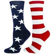 Red Lion Freedom Mismatched Crew Socks ( Navy / White / Red - Large )