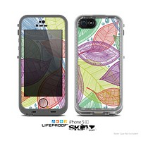 The Seamless Color Leaves Skin for the Apple iPhone 5c LifeProof Case