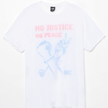 OBEY No Justice No Peace T-Shirt at PacSun.com