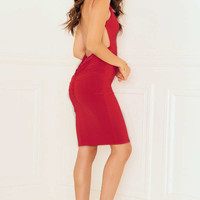 Slinky Dress Low Back with Bum Ruching