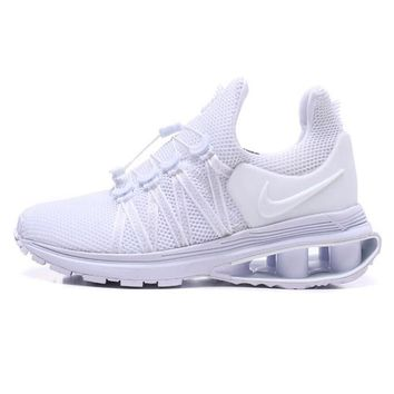 Nike Shox Gravity High Quality Newest Fashionable Men Personality Running Sport Shoes Sneakers All White