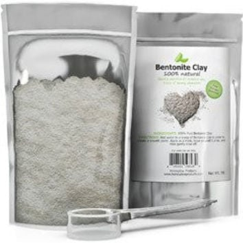 100% Pure Bentonite Clay Powder (1lb) with Scooper for Facial Masks, Acne & Hair - Resealable Pouch - Mix with Essential Oils for Anti Aging Properties - USA Made By Honeydew Products