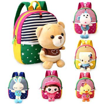 Baby Back Pack Toddler Kids Backpacks Kindergarten School Bag Cute Animal Plush Cartoon Schoolbag Girls Boys Hello Kitty Toys