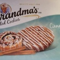 Grandma's, Frosted Cookies, Cinnamon Roll Flavored, 6 Count, 10.8oz Box (Pack of 3)