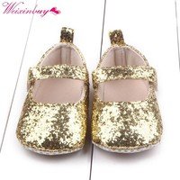 Baby Cute Shoes First Walker Toddler Baby Girls Cotton Sequin Infant Kids Soft Sole Shoes Bottom Bebe Shoes