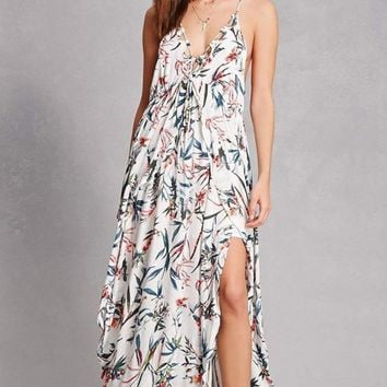 Sunrise Bohemian Tropics Floral Maxi Dress
