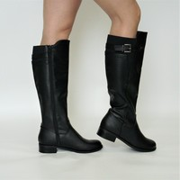 Classic Buckled Riding Boot