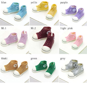 1pair 3.5cm Fashion Plastic Doll Shoes for Blythe BJD Dolls Ball Joints Doll Accessory Shoes