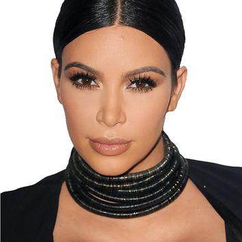 The Kim Kardashian Multilayer Coiled Rope Necklace