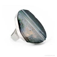 Agate Slice Ring on Sale for $11.99 at HippieShop.com