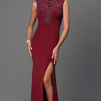 Bead Top Sleeveless Floor Length Dress