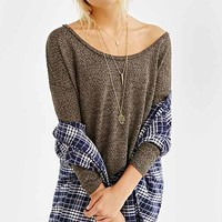 Mouchette Scooped-Out Dolman Top-