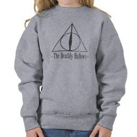 The Deathly Hallows Pull Over Sweatshirt from Zazzle.com