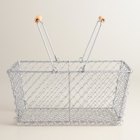 Rectangular Galvanized Wire Basket