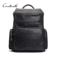 High Quality Genuine Leather Backpack Fashion Men Travel Bags School Bag Design Fashion Leather Backpacks
