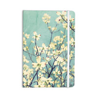 "Ann Barnes ""Pure"" Teal Floral Everything Notebook"