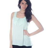 Folded Collar Chiffon Tank - Mint from Casual & Day at Lucky 21 Lucky 21