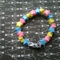 Pansexual Flag - Pan - Kandi Bracelet Single