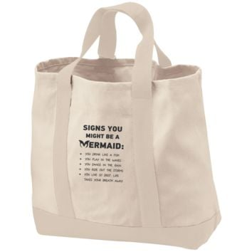 Signs You Might Be A Mermaid 2-Tone Shopping Tote