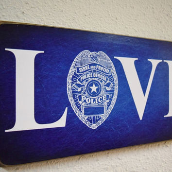 Police, Police Gift, Police Officer, Policeman Gift, Police Decor, Police Sign, Policeman Sign, Police Wedding, Policeman Wedding, Cop Gift