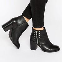 ASOS ROSA Wide Fit Leather Boots at asos.com